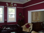 Plaster Cornice, Claret Painted Walls, Painted Lounge Room, Heritage House Painting, Federation Home Painting Subiaco