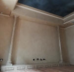 Painted Night Sky, Interior Design Perth, Home Theatre, Marbled Columns, Faux Marble, French Wash, Polished Plaster Perth