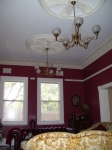 Plaster Ceiling Roses, Plaster Cornice, Claret Painted Walls, Claret Walls Perth, House Painter West Leederville, Painter Perth
