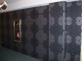 Wallpaper Perth, Grey Silver Wallpaper, Wallpaper Hanger Perth, Creative Colours Wallpaper Hanging, Office Painting